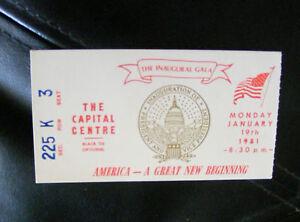 ORIGINAL-TICKET-to-The-Ronald-Reagan-039-s-Inaugural-Gala-Monday-January-19-1981