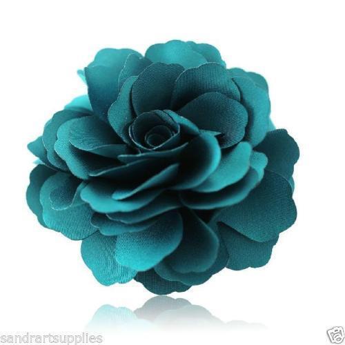 4-Piece Flowers Headband//Hair Clip Woman Flowers Brooch Hair Clip