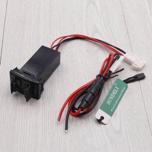 Car Dual 2 USB Port Charger Adapter For Mazda 12V Car Socket Lighter Splitter