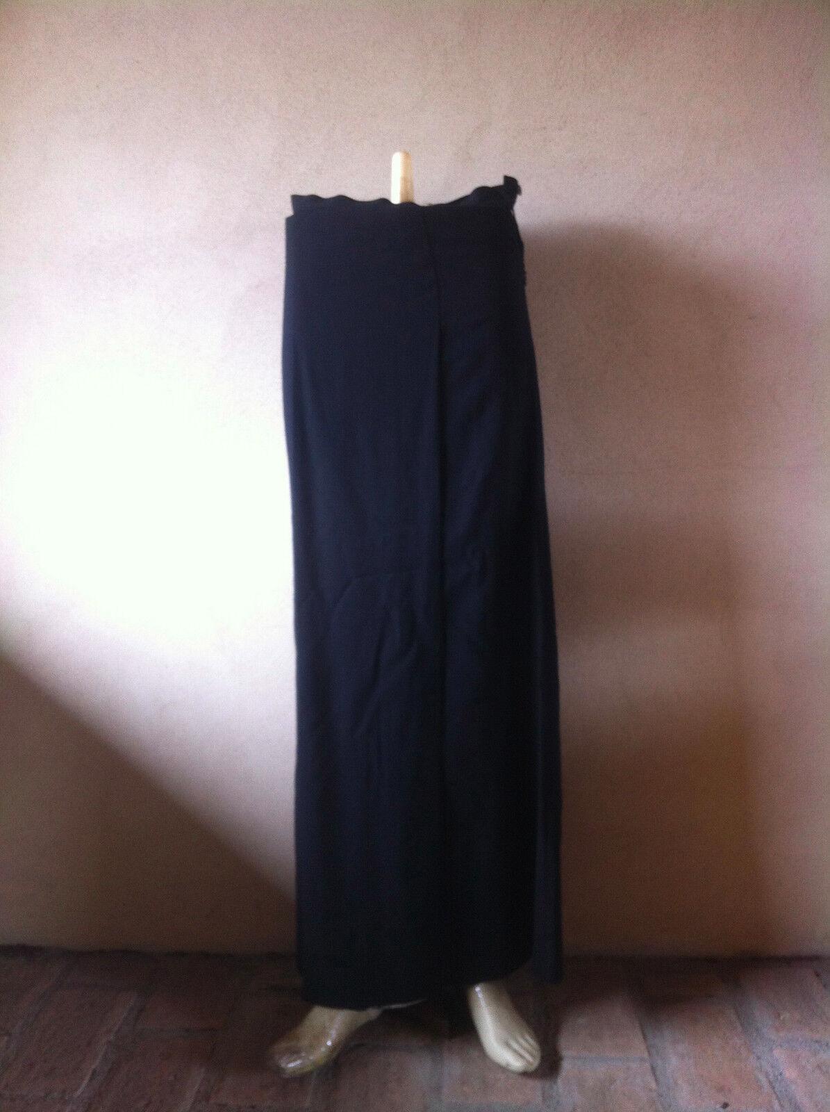 Kenzo gonna lunga longuette nera donna skirt tg 40 fresco fresco fresco lana interno viscosa b632d9