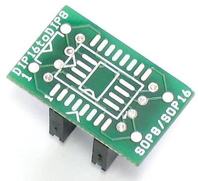 DIP8 to DIP16 adapter MX25L1605 MX25L6405 DIP8 to SOP16 DIP8 to SOP8