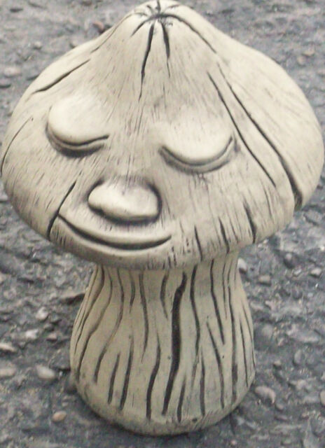 'Smiling' Mushroom (In 2 Parts) Garden Ornament Latex & Fibreglass Mould/Mold