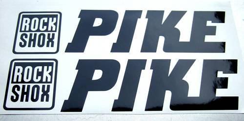 2 ROCKSHOX PIKE NOIR Decals Autocollants Vélo Fourche 454 426