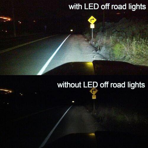 "4Pcs 6/"" 72W 6 LED Projector Spot Beam Work Light Bar Kit 6500K Working Use Light"