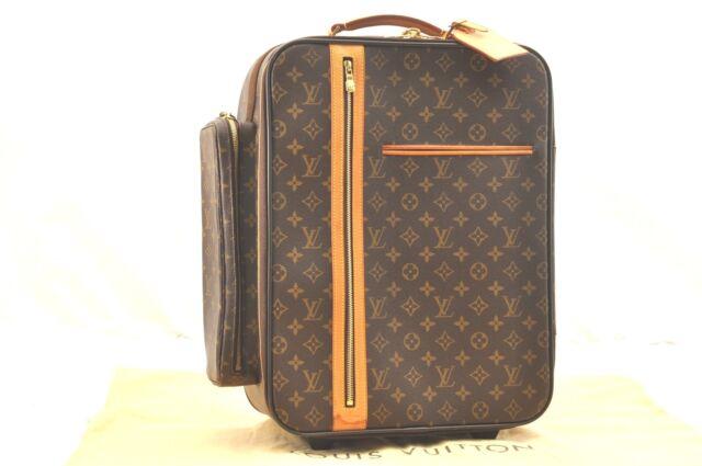 a4e28207c Auth Louis Vuitton Monogram Trolley 50 Bosphore Travel Carry bag M23259 LV  61184