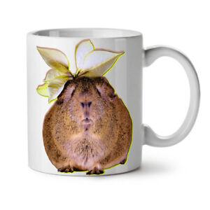 Guinea Pig Flower Animal NEW White Tea Coffee Mug 11 oz | Wellcoda
