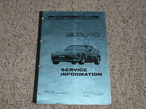 1982 porsche 944 shop service information repair workshop manual rh ebay com Porsche 944 Rim Size Porsche 944 Manual Steering Rack