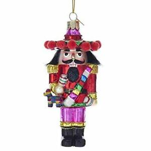 Noble Gems Fireman Nutcracker Glass Christmas Tree Ornament NB1324 New