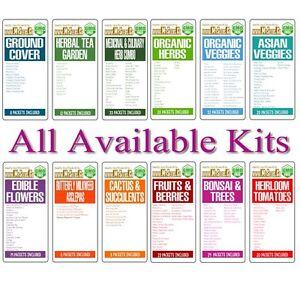 COMBO-Seeds-KIT-Choose-from-12-Kits-Veggies-Fruits-Bonsai-Organic-Edible