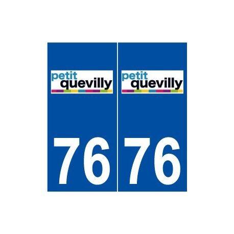 76 Le Petit-Quevilly logo autocollant plaque stickers ville