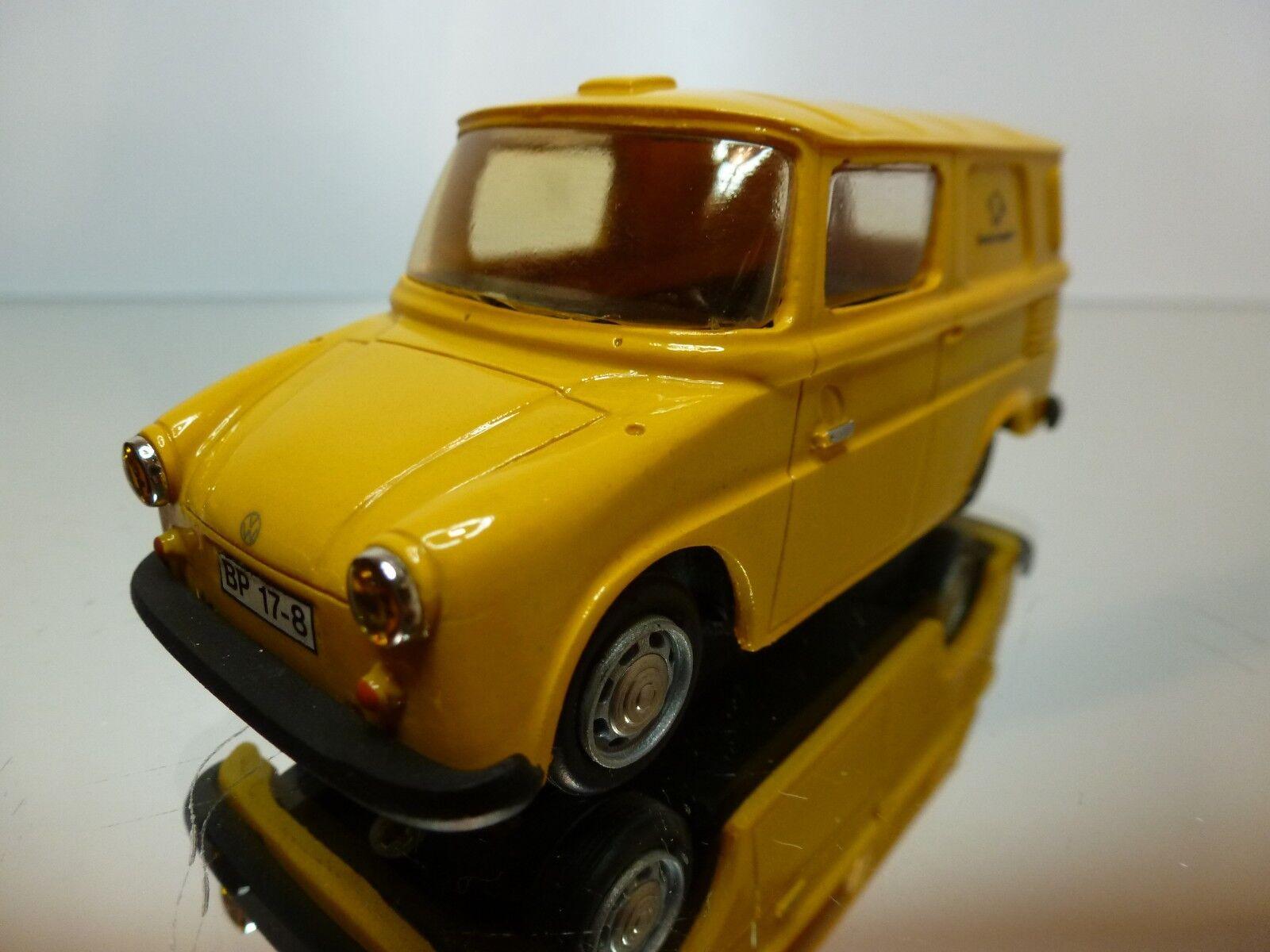 Ministyle vw volkswagen fridolin deutsche bundespost - gelb 1 43 ausgezeichnet.