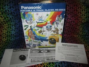 Panasonic-8-Track-Player-TNT-RQ-830S-Reproduction-Box-amp-Paperwork