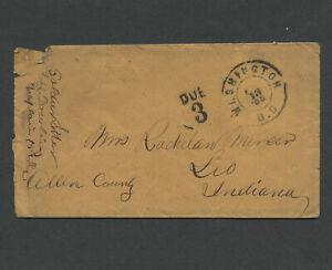 Washington DC: 1865 LEVI H. DOWLING Chaplain Civil War Soldier Letter, DUE 3 PM