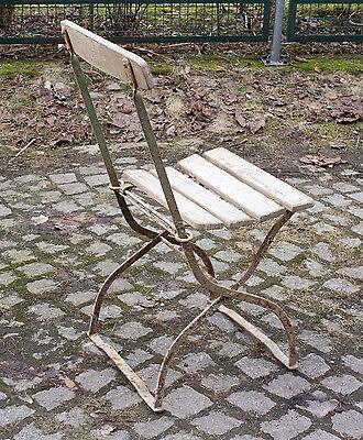 Vintage Shabby Chic 20er Jahre Garten Schöner Gartenstuhl Klappstuhl Stuhl F