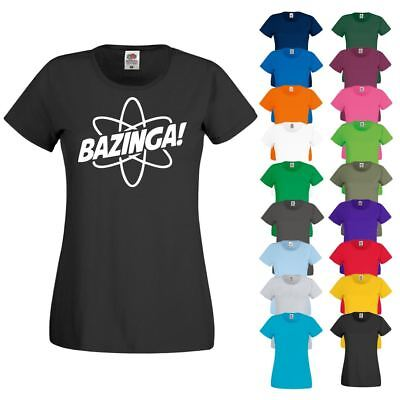 Bazinga Big Bang Theory Sheldon Ladies T SHIRT Sizes 8-18