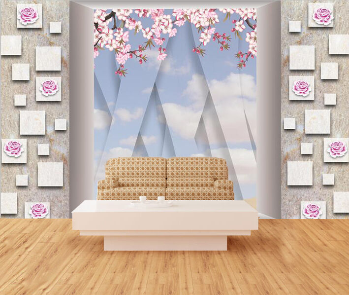3D Rosa flowers 232 Wall Wall Wall Paper Wall Print Decal Wall Deco Indoor Wall Murals 727062