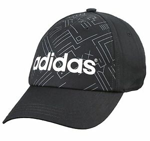 b6c6877f620 ADIDAS NEO CAP ALL OVER SNAP BACK HAT BLACK MEN WOMEN CUIRVED BRIM ...