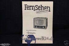 altes org. RFT Prospekt Fernseher Dürer Forma Atelier DDR Neuheiten um 1956