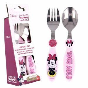 Besteck-Set Mouse | Minnie Maus | 2-teilig | Kinder Gabel und Löffel