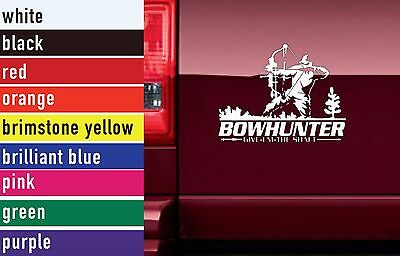 Bow Hunter Hunting Vinyl Sticker Decal Car-Truck Laptop-Netbook 1569