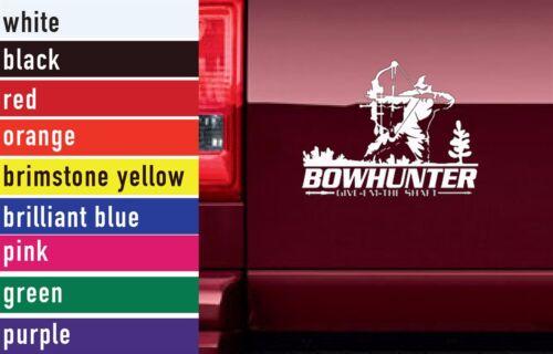 Bow Hunter Hunting Vinyl Sticker Decal Car-Truck Laptop-Netbook 1569