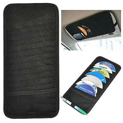 Car SUV Accessories Sun Visor Black 12 Disc CD DVD Folder Bag Organizer Holder