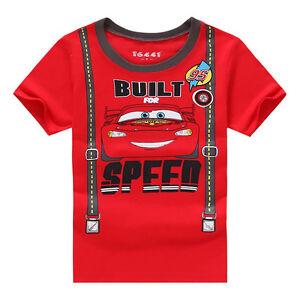 Cartoon-Cars-Enfants-Costume-Bebe-Garcon-Manche-Courte-Ete-Haut-T-shirt-T-shirts
