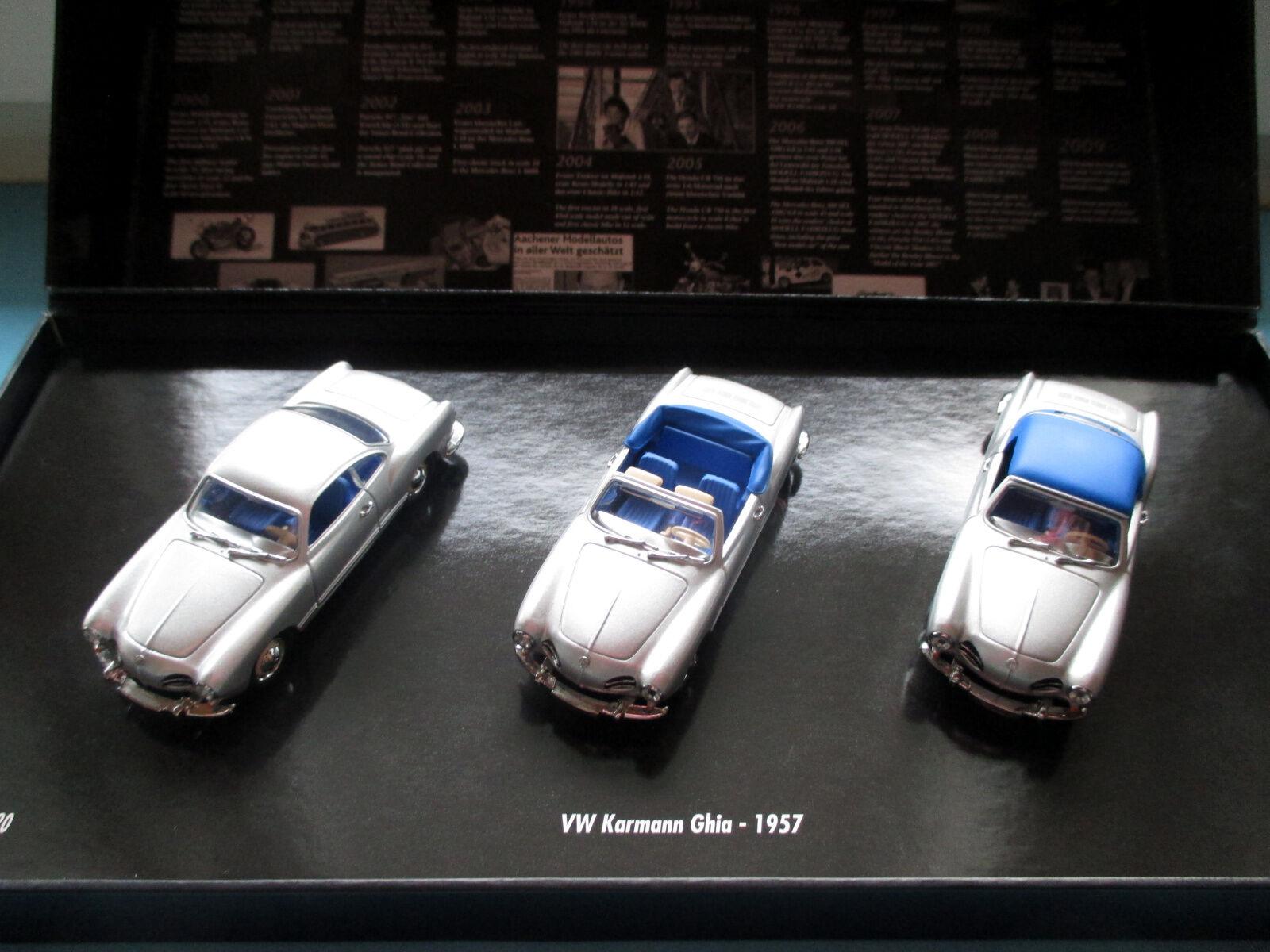 1990-2010 20 años Minichamps Karmann Ghia 1957 trío-set limitado 320 PCs.