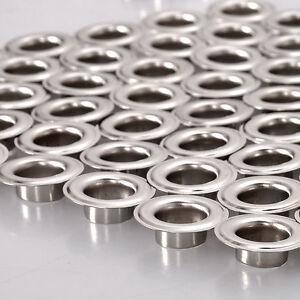 50 X 17mm Argent Dorés Bronze Oeillets & Rondelles Cuir Artisanat Bannières