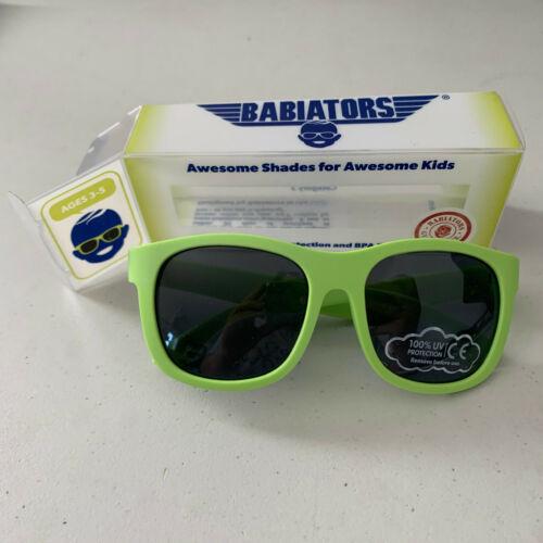 Babiators Navigator ages 3-5 Sublime Lime Green Sunglasses Shades Aviators NEW