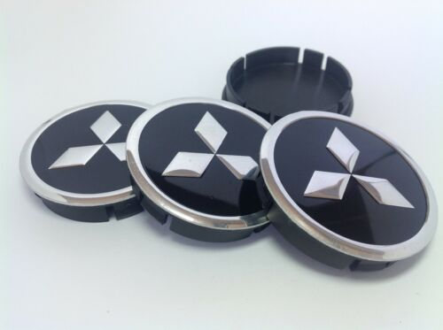 4st x Aluminium Nabenkappen Radkappe Alufelgen 60mm//55mm für MITSUBISHI
