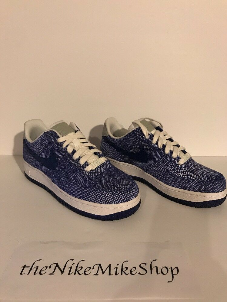 8ad0eaa881 Nike AF1 bluee Croc Se Rare Sample Women's Size Style 898889-400 US ...