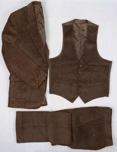 sears-vintage-80s-brown-3-piece-12-wale-corduroy-collection-suit-40r-30-034-x-31-034
