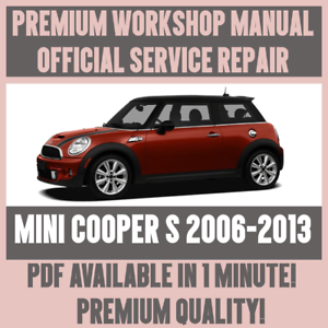 workshop manual service repair guide for mini cooper s 2006 2013 rh ebay com Similar to Mini Cooper Pink Mini Cooper Blacked Out With