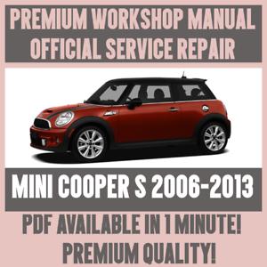 *WORKSHOP MANUAL SERVICE /& REPAIR GUIDE for MINI COOPER S 2006-2013