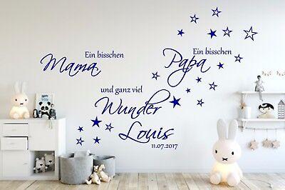 Wandtattoo Kinderzimmer Aa139 Ein Bisschen Mama Personalisiert Namen Baby Ebay
