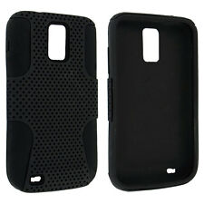 Black Hybrid Hard Case Cover for Samsung Galaxy S II Hercules T989