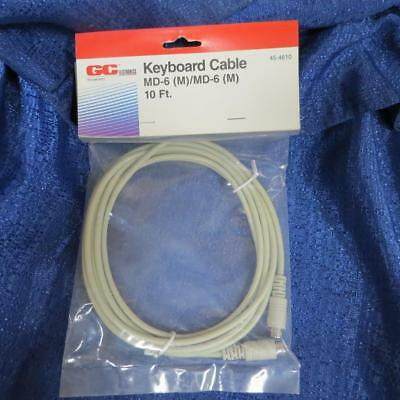 Keyboard Cable  MD-6 Male to MD-6 Male to connect PS//2 devices GCE 45-4606 6 ft