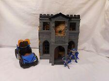 Batman 1991 Kenner DC Comics Wayne Manor Batcave Playset + Imaginext Batmobile