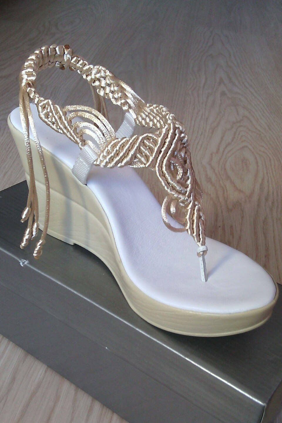 Bridal Sandals, Wedding Shoes, Comfortable Shoes, Lace up Sandals,Rope Sandals