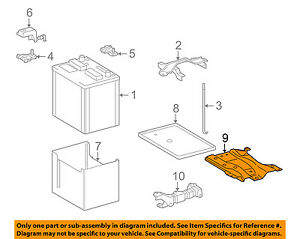 toyota 1 8l engine diagram toyota oem 09 13 corolla 1 8l l4 battery carrier tray bracket  toyota oem 09 13 corolla 1 8l l4