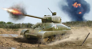 M4A1-Sherman-Revell-Solid-Model-Building-Kit-03196-Novelty-06-2013-Boxed