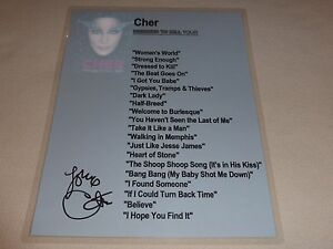 CHER DRESSED TO KILL TOUR D2K 2014 SIGNED AUTOGRAPH SETLIST LAMINATE VIP! RARE!