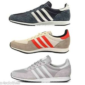 new arrival 9a8c6 2f179 Image is loading Adidas-Mens-Adistar-Racer-Shoes-Trainers-Blue-Silver-