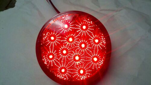 LED 4/'/' REFLECTOR Stop Tail Turn Red Light Truck Or Trailer Bright