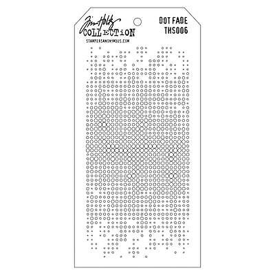 4.125 by 8.5-Inch THS-006 Stampers Anonymous Tim Holtz Layered Stencil Dot Fade