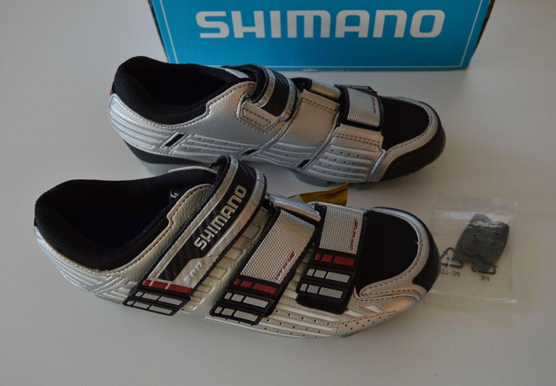 SHIMANO MTB MTB MTB Schuhe SH-M160 Gr. 38 (37) silber SPD Schuh Radschuhe US 5.2 3e0e96