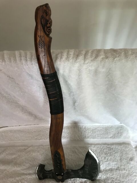 God Of War Axe Replica Full Size Hand Forged Steel And Wood
