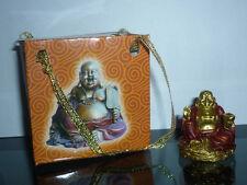 statua BUDDHA ORO FORTUNA BOX REGALO arte zen orientale soprammobili feng shui