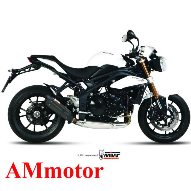 Mivv Triumph Speed Triple 2012 12 Pot D' Echappement Moto Suono Black Low